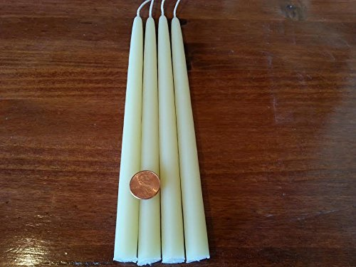 Natural Light 4 Creamy Beeswax Taper Candles 8