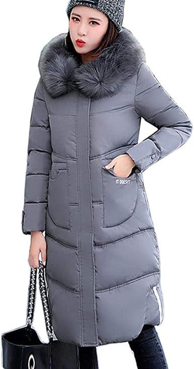 XWKKY Chaqueta De Invierno para Mujer Abrigo Largo Abrigo De ...