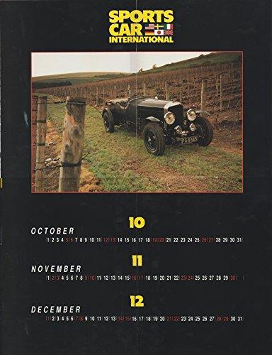 1929 BENTLEY 6¼ LITRE SPEED SIX in 1991 COLOR CALENDAR (Oct-Dec) - SPORTS CAR INTERNATIONAL - USA - NICE !! - Oct Sports Car
