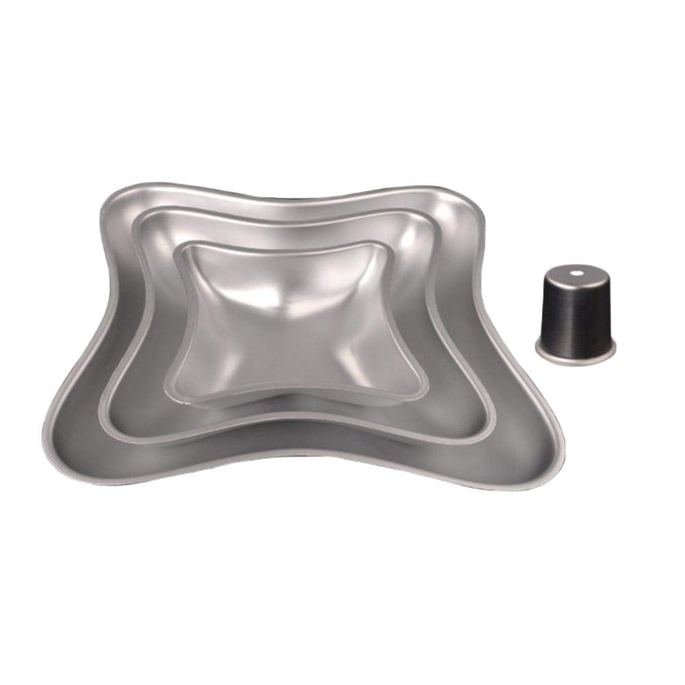 dissylove Three-Piece Large Aluminum Cake Mold 35335350 mm ,Aluminum Alloy Round Hollow Chiffon Cake Mold Angel Food Cake Pan Baking Mould with Pillow Shape