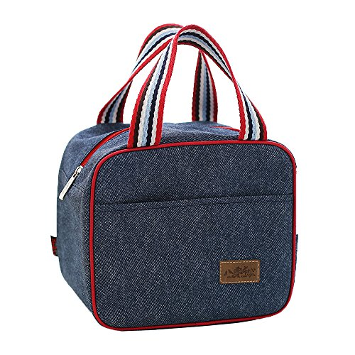 Lunch Tote  Bag Cooler Handbag Medium Size Insluated Lunch Bags for Student Women Men Office School Outdoor Picnic