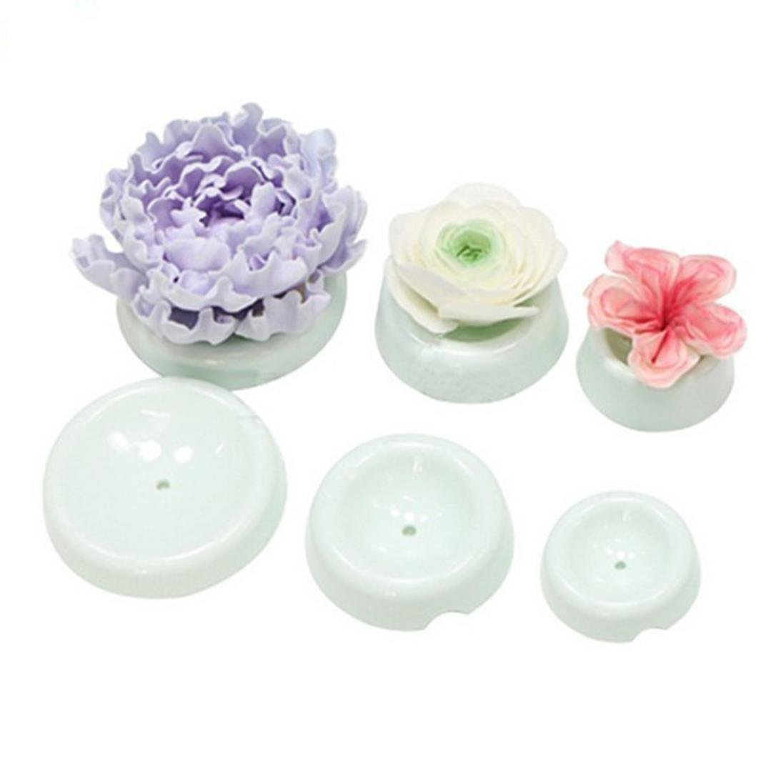 Gessppo 6pcs/set 3D Cake Flower Drying Mold / Cake Flower Decoration / Baking DIY Accessory-Easy to Operate and Clean
