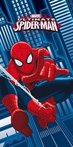 Spider Man Uomo Ragno Cartone Animato Telo Mare Spugna Amazonit