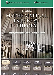 Amazon student solution manual for mathematical interest theory mathematical interest theory mathematical association of america textbooks fandeluxe Choice Image