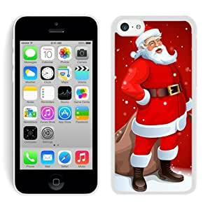 MMZ DIY PHONE CASECustom-ized ipod touch 5 TPU Case Cartoon Santa Claus White ipod touch 5 Case 1