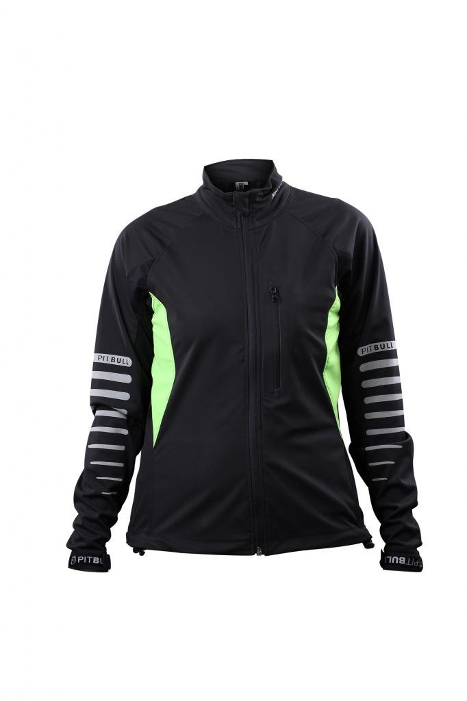 Pitbull Women Cycling Jacket Windproof Waterproof Thermal Jersey For Spring/Autumn,Green & Black,M