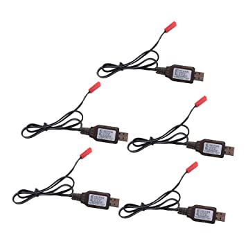 KESOTO 5X Baterías USB 6V Ni-MH Cable de Cargador Conector ...