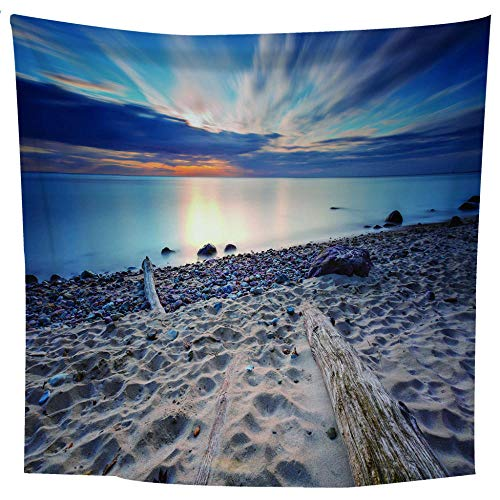 MRQXDP Golden Beach and Sun, Tapestry Decor Bedroom Living Room Beach Towel Shawl ()