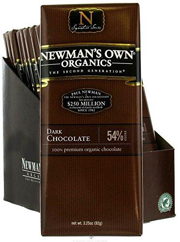 Organics Dark Chocolate Bar 54% 3.25 Ounces (Case of 12) - Chocolate Newmans Bar Own