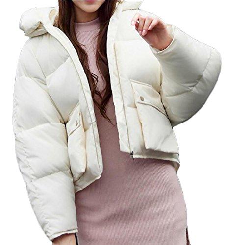 Ispessiscono Cappotti Inverno 1 Giù Tuta Giacche Cappuccio Delle Generici Donne Con Breve Sportiva Cotone 4FBStq