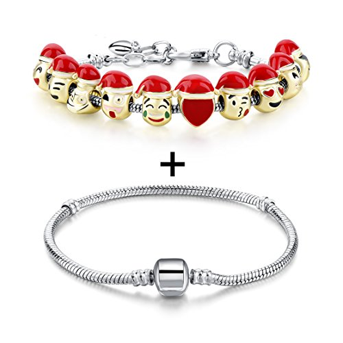 Choker Charms Bracelet Plated Lobster