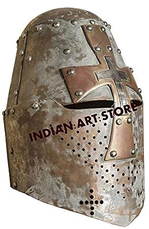 Nuevo Super Medieval Crusader casco de los templarios armadura casco romano casco de caballero LARP SCA