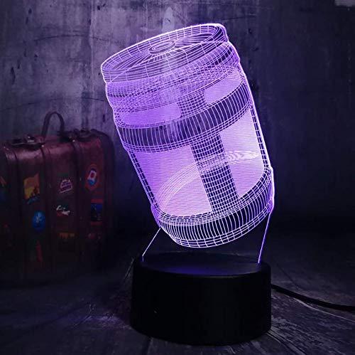 Nachtlicht Schreibtischlampe Kid Toy Weihnachtsgeschenk Multicolor Home Decor 3D Led 7 Farbe