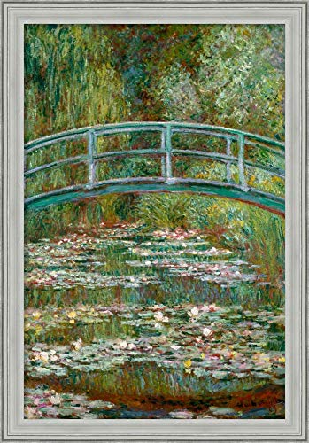 Framed Canvas Wall Art Print | Home Wall Decor Canvas Art | Bridge Over a Pond of Water Lilies by Claude Monet | Casual Decor | Stretched Canvas Prints - Pond Over Bridge