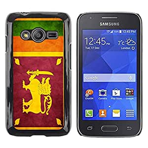 Be Good Phone Accessory // Dura Cáscara cubierta Protectora Caso Carcasa Funda de Protección para Samsung Galaxy Ace 4 G313 SM-G313F // National Flag Nation Country Sri Lanka