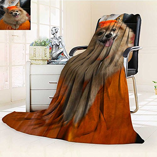 YOYI-HOME Soft Plush Warm Duplex Printed Blanket Halloween Costume Puppy Warm Microfiber All Season Anti-Static,2 Ply Thick,Hypoallergenic/69 W by 47