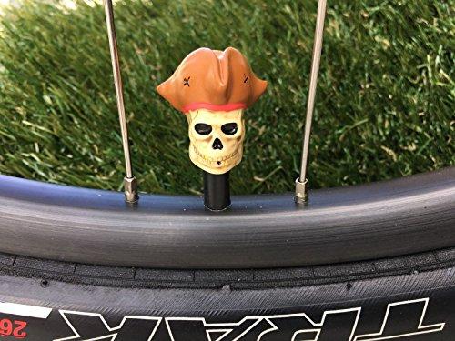 2海賊。。。シュレーダーバルブキャップ。。。ブラウン帽子MTB BMX。。。。。。。。。。。。サイクリング自転車