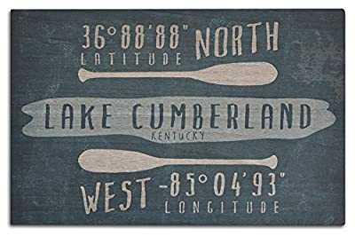Lake Cumberland, Kentucky - Lake Essentials - Latitude and Longitude (Wood Wall Sign, Wall Decor Ready to Hang)