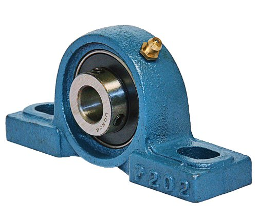 20 Mm Mounted Bearing (UCP204 Pillow Block Mounted Bearing, 2 Bolt, 20mm Inside Diameter, Set screw Lock, Cast Iron, Metric)