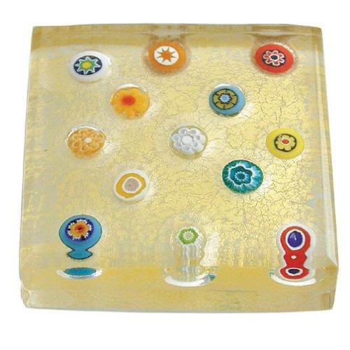 Eccolo Murano Paperweight Spread Millefiori product image