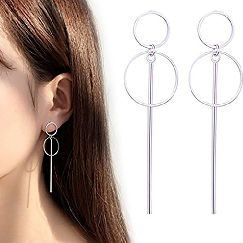 - Leiothrix Hypoallergenic Geometrical Hoop Dangle Earrings for Women and Girls