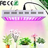 1200W LED Plant Grow Light, WAKYME Adjustable Full Spectrum Double Switch Plant Light with Veg & Bloom Button and Powerful Heat Dissipation System Grow Lamp for Indoor Plants Veg and Flower