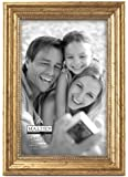 Malden International Designs Classic Wood Picture Frame, 4 by 6-Inch, Gold Bead