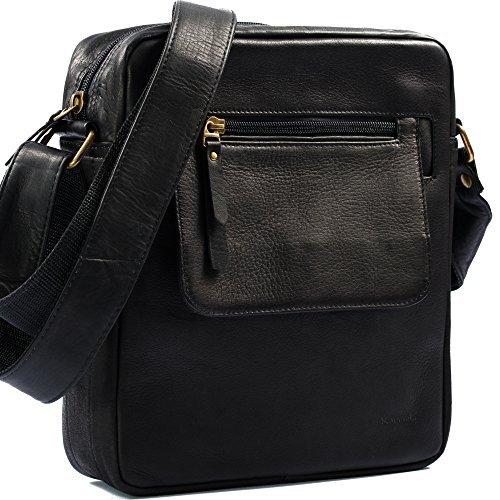 Karriel Casual Leather Tablet Messenger Bag