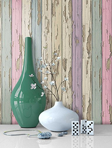 Tapete Vlies Holz Muster In Pastell Farben Schone Edle Tapete Im