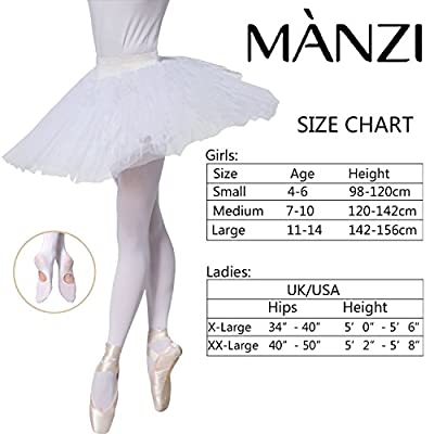 MANZI 1-3 Pairs Women's Girls' Basic Convertible Transition Ballet Dance Tights 40 Denier at Women's Clothing store