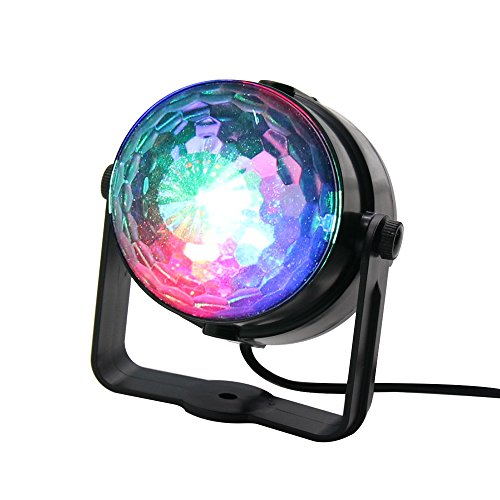 FAMONEY Party Light Disco Ball Led Sound Activated Magic Mini Stage Lights For Car Party Halloween Christmas DJ Bar Karaoke Home Wedding Show Club Pub
