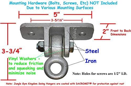 7 x 3//8 Swing Hangers Galvanized Hex Bolt Hardware Kit Jungle Gym Kingdom