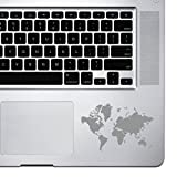 StickAny Palm Series World Map Sticker for MacBook Pro, Chromebook, and Laptops (Silver)