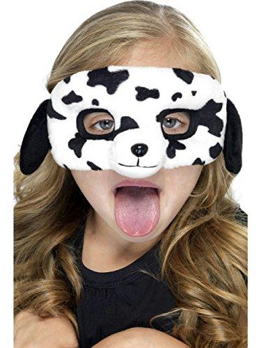 Kids Dalmatian Dog Plush Eye Mask (Steampunk Eye Makeup)