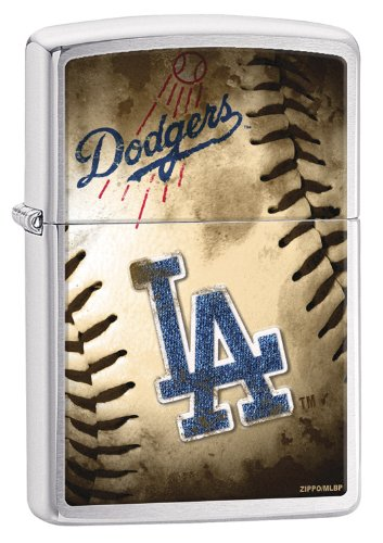 Zippo MLB Los Angeles Dodgers Brushed Chrome Lighter