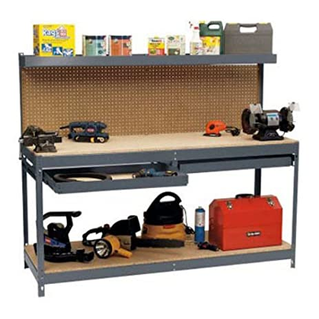 Garage Workbench Pegboard With Storage Shelf Drawers This 6u0027