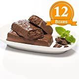 ProtiWise - High Protein Diet Bar | Cocoa Mint | Low Calorie, Low Fat, Low Sugar (12 Boxes)