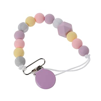 Amazon.com : YOUSIKE Baby Dummy Chain Silicone Pacifier ...