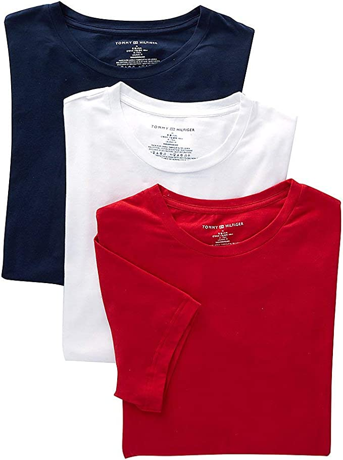 Details about  /NWT Tommy Hilfiger Men/'s T-Shirt Crewneck Solid Tee Classic Fit Short Sleeve New