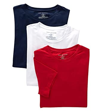 9cfb1184 Tommy Hilfiger Men's 3 Pack Cotton Stretch Classic Crew Neck Tee at Amazon  Men's Clothing store: