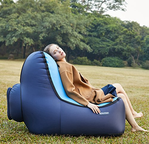 BEAUTRIP Grab a Comfy Seat with Outdoor Inflatable Lounge Chair – Incredible Ergonomic Design Air Lounger Sofa – Ideal Picnic/Camping/Beach Chairs, Air Hammocks – Hangout and Enjoy great (Motion Lounge Chair)