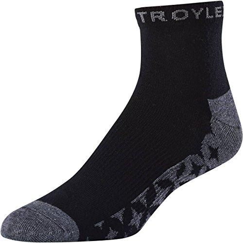 - Troy Lee Designs Starburst Quater Men's Off-Road BMX Socks - Black / 6-10