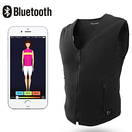 Price comparison product image Beautprincess Women's Therapy Insulated Heated Down Vest Electric Heating Clothes Far Infrared with Smartphone Bluetooth App Control Small