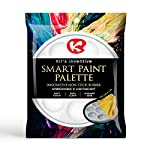 Kit's Inventive - Hobby & Model ' White ' Smart Paint Palette With Cover - Nonstick & Unbreakable Synthetic Rubber [ 8 well ] Easy To Clean, Safe & More Durable by Kit's Inventive