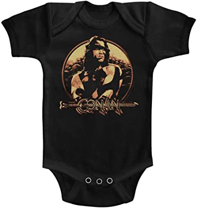 Conan Sword/&Sorcery Hero Daddys Little Barbarian Gray HTHR Infant Baby Snapsuit