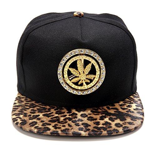 ala algodón béisbol Weed Gorra plana tachonado marihuana de del Snapback del de la Leaf de Hombre HipHop Rojo manera de MCSAYS sombrero H7n5gwXxx