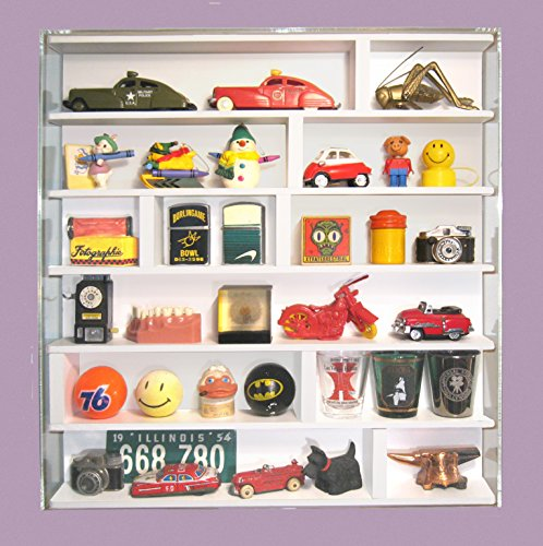 Tiny Treasures Showcase for small curios, momentos, knick knacks and collectibles Wall Mount Curio Cabinets