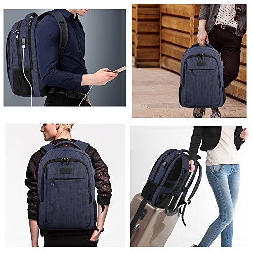 Laptop Backpack with USB Charging Port,Slim Travel Backpack with Laptop Compartment for Men and Women,Water Resistant College School BookBag Computer Bag for Girls and Boys Fits 15.6 In Laptop,Macbook by MATEIN (Image #5)