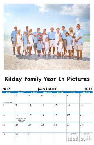 2015 Personalized Family Photo Calendar with 12 Custom Pictures