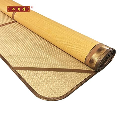 - Mat Bamboo, Double Sided Ice Silk, Carbonized Bamboo Summer Sleeping Cooling Single Bed Folding Straw (Size : 195X150CM)